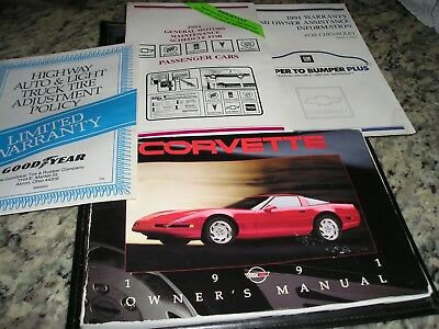 1991 ORIGINAL CORVETTE OWNERS MANUAL PACKAGE/VIDEO WITH PAPERS ()