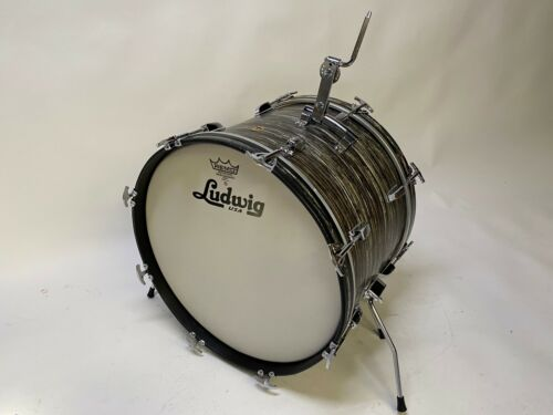 Vintage Ludwig 20x14 Aug. 16 1965 Black Oyster Pearl bass drum (Ringo Star Era)