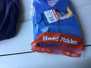 Hard yakka ladies shirts s/s & l/s  genuine with tags blue Thornleigh Hornsby Area Preview
