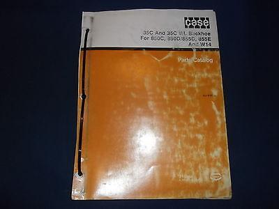 Case 35c Wl Backhoe For 850c 850d 855d 855e W14 Dozers Parts Book Manual
