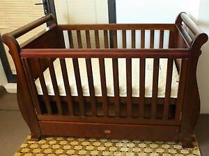 Oak BOORI Country 4-in-1 Sleigh Royale Baby Cot +mattress EUC Camperdown Inner Sydney Preview