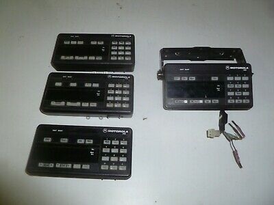 Four Motorola Systems 9000 Spectra Two Way Radio Control Heads Hcn1073a Hcn1071a
