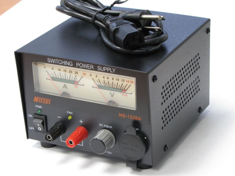 Nissei 1228A 30 AMP Switching Power Supply with meter