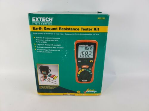 Extech 382252 Earth Ground Resistance Tester Kit - Brand New