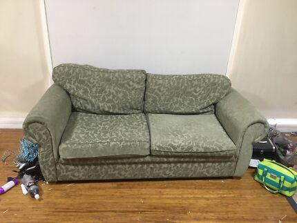 Green sofa bed lounge... no mattress