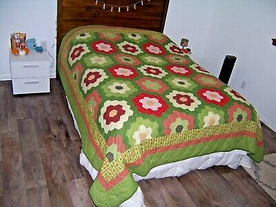 Quilt Christmas Better Homes & Gardens Queen 88x88 Grandmas Flower Garden