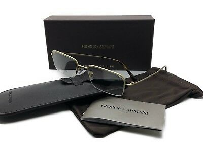 MIB Giorgio Armani Eyeglasses AR5003T 3002 Gold Rimless Titanium Metal 53 19 (Mib Glasses)
