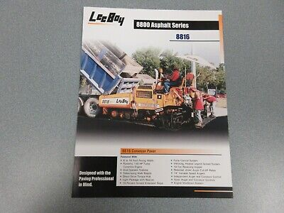 Leeboy 8816 Asphalt Paver Color Sales Sheet 2 Pages