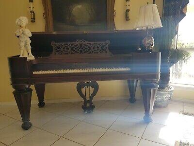 "J. W. Brackett-Boston 1860's ""Cottage Size"" Square Grand Piano"