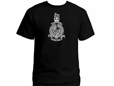 UK British army Royal Marines commando military 100% cotton black top t shirt