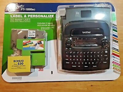 New Brother P-touch Pt-1890sc Deluxe Home Office Labeler