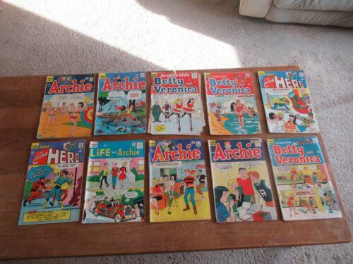 ARCHIE COMICS LOW GRADE 10 COMIC SILVER AGE LOT BETTY VERONICA JUGHEAD & MORE