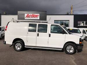2017 Chevrolet Express 2500 GMC, Shelving and ladder rack includ