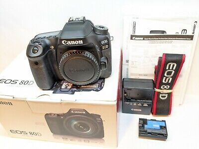 Canon EOS 80D Digital SLR Camera Body - MINT - EXCELLENT - 1K SHUTTER COUNT !!!