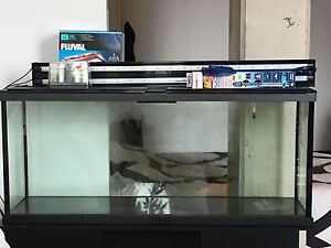55g Long Aquarium/Fish Tank With Stand Fully Equipped Set Up