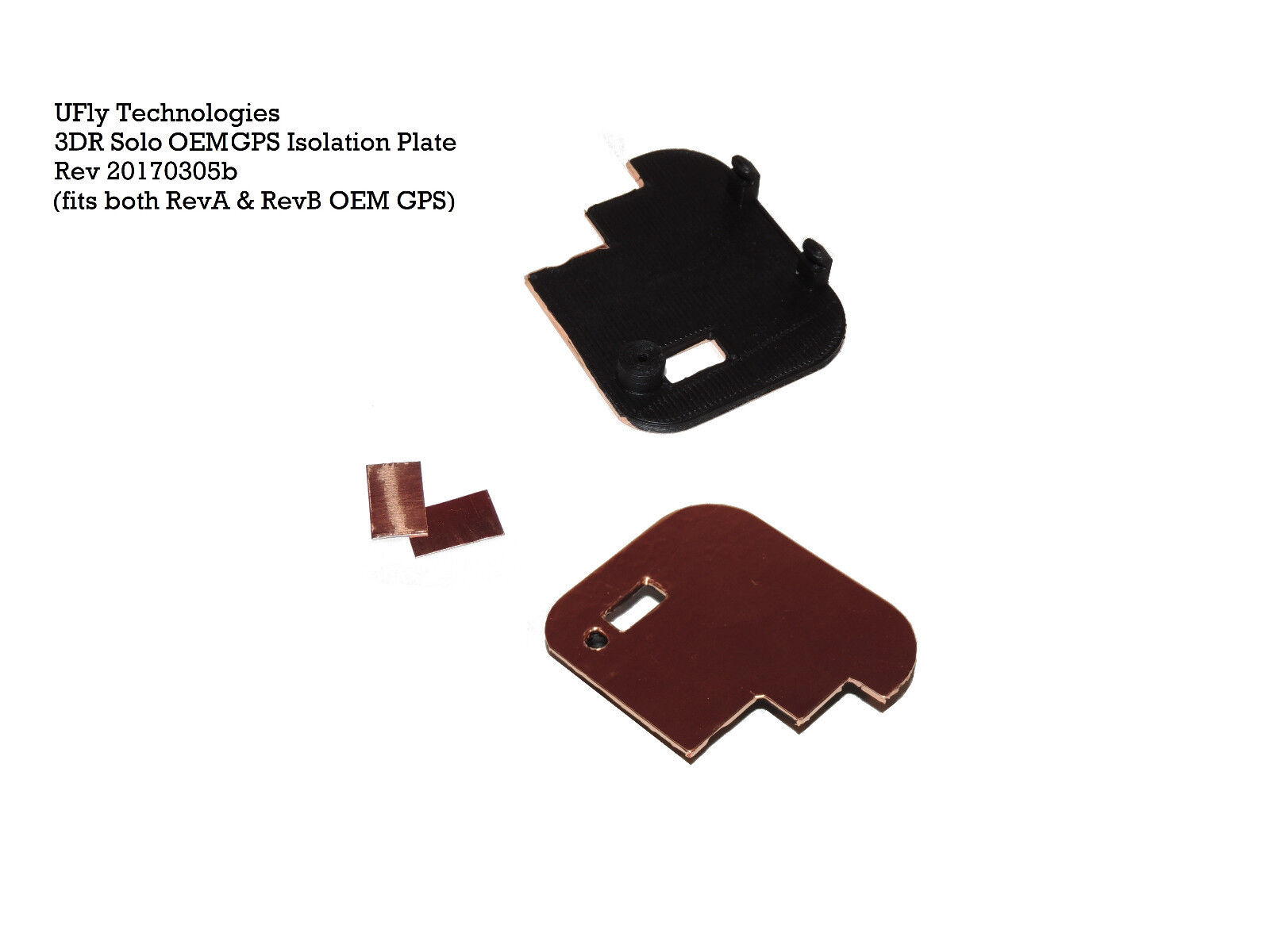 UFly Technologies 3DR Solo OEM GPS Isolation Plate