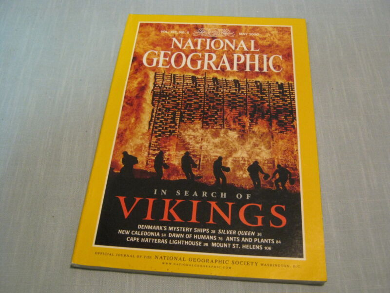 NATIONAL GEOGRAPHIC May 2000 IN SEARCH OF VIKINGS Dawn of Humans MOUNT ST.HELENS