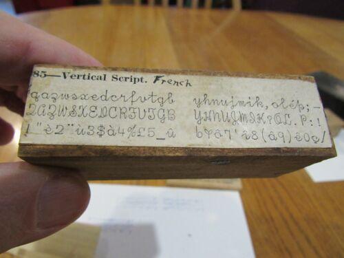 VINTAGE ORIGINAL EARLY 1900s HAMMOND MULTIPLEX TYPEWRITER FRENCH SHUTTLE