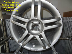 GENUINE-ZENDER-WINNER-WHEEL-17x7-5-GREY-4x100-ALLOY-RIM-MAG-SPARE