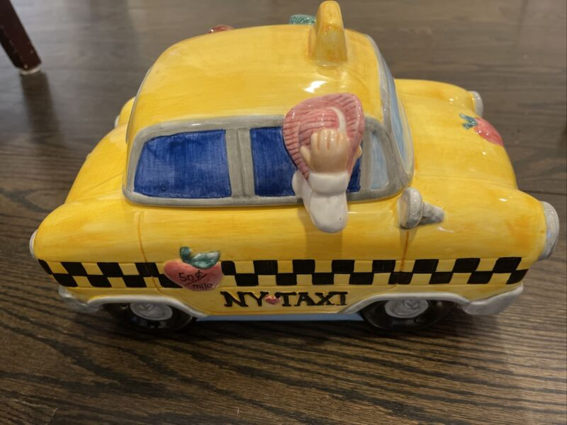 NEW YORK CITY TAXI Car COOKIE JAR