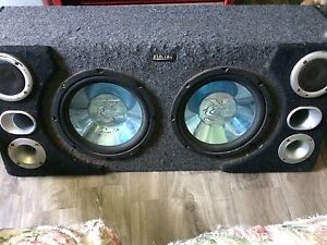 """$50 obo Two 10"""" subs and a 350w amp"""