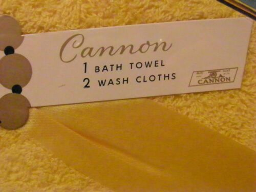 Vintage Bath Towel Set Cannon  stars
