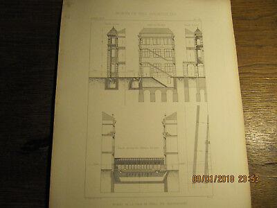 Planche Ecoles de la Ville de Paris Rue Baudricourt 1875
