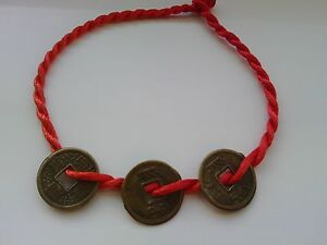 Feng Shui Charm Bracelet 'Blessing Coins' Chinese Present Gift
