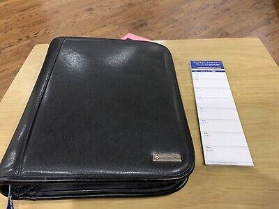 Franklin Covey Cl12215 Binder Planner Black Leather Zip Closer