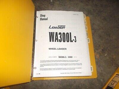 Komatsu Wa300l-3 Front End Wheel Loader Tractor Shop Service Repair Manual