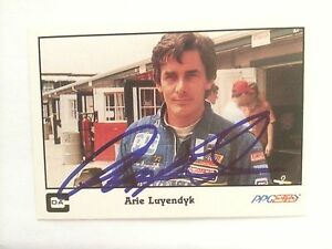 Signed-Trading-Card-Indy-500-Car-Indianapolis-Arie-Luyendyk