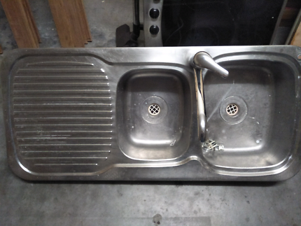 Kitchen sink dual basin with mixer tap | Building Materials ...