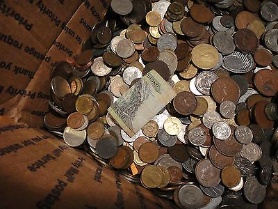 2 POUND BULK WORLD FOREIGN COIN LOTS Kids Love Coins 21747 - $13.89
