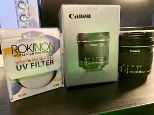 Canon EFS 10-18mm f/4.5-5.6 IS STM + UV FILTER