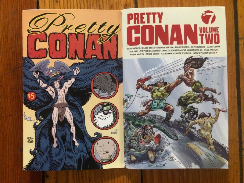 Pretty Conan #1-2 Tom Daly Alt Indie Homage + Columbia Univ Comic Currator Intro