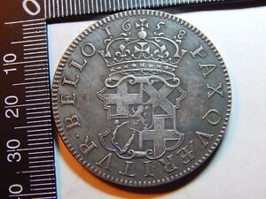 1658 Oliver Cromwell Silver Crown Restrike Antique Rare Coin L@@k 5/- #2