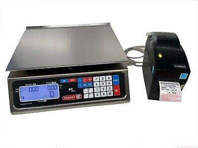 Torrey Pc40l Price Computing Deli Meat Scale W Godex Dt2 Label Printer-shi