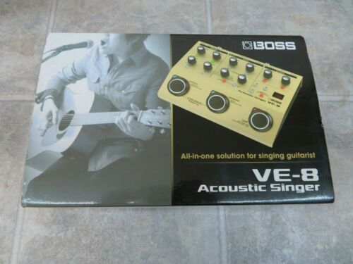 Boss VE-8 Acoustic Singer Guitar/Vocal Processor Stompbox