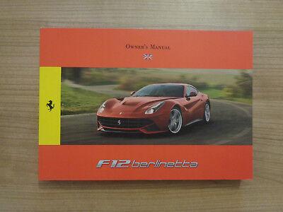 Ferrari F12 Berlinetta Owners Handbook Manual