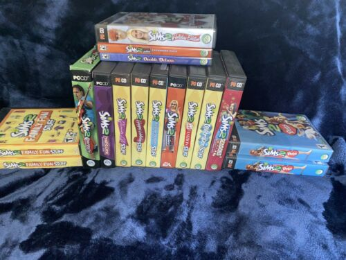 Computer Games - Sims 2 Computer Games Lot of 16 Total Used Games