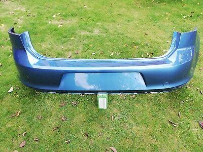 Original VW Golf 7 VII Stoßstange Stoßfänger hinten, Pacific Blue Metallic gebraucht kaufen  Meerbeck