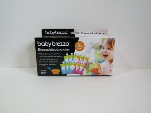 Baby Brezza Reusable Baby Food Storage Pouch, BPA Free, 10 Pack