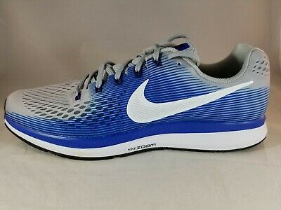 huge selection of 84953 018e2 Nike Air Zoom Pegasus 34 Men s Wolf Grey Blue Running Shoes 880555 007 Size  15