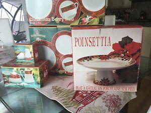 Christmas set/ vaisselle de Noel 8 pers.porcelaine, + 5 pcs add.