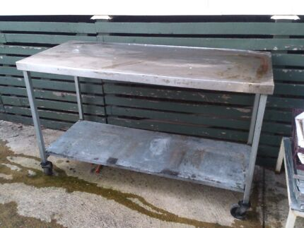 Stainless steel top work bench. Willagee Melville Area Preview