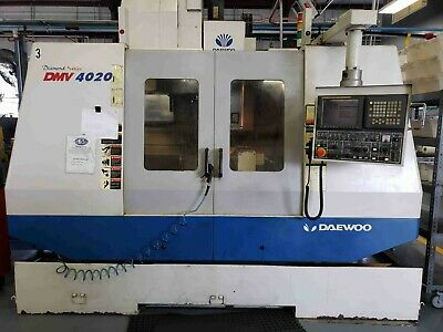 2002 Daewoo Dmv 4020 With Fanuc 21i-m Cnc Control And 10 Rotary Table