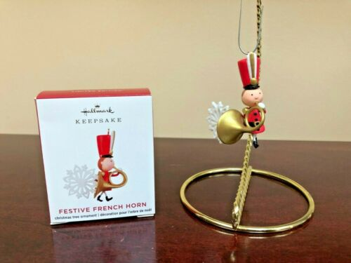 2020 Hallmark Miniature Ornament Festive French Horn