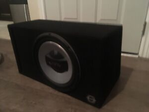 12in Infinity subwoofer ported