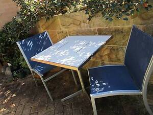 STAINLESS STEEL OUTDOOR SETTING OUTDOOR TABLE AND CHAIRS Naremburn Willoughby Area Preview