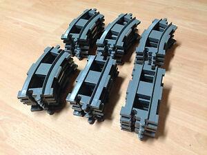30 Schienen hellgrau 20 Kurven +10 Gerade Lego duplo Eisenbahn Eisenbahnschienen